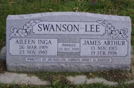 SWANSON - LEE, JAMES ARTHUR - Minnehaha County, South Dakota   JAMES ARTHUR SWANSON - LEE - South Dakota Gravestone Photos