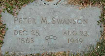 SWANSON, PETER M. - Minnehaha County, South Dakota | PETER M. SWANSON - South Dakota Gravestone Photos