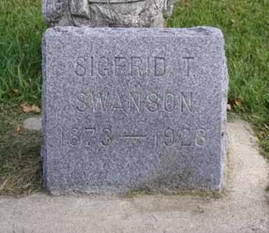 SWANSON, SIGFRID T. - Minnehaha County, South Dakota | SIGFRID T. SWANSON - South Dakota Gravestone Photos