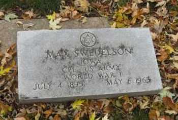 SWEDELSON, MAX - Minnehaha County, South Dakota | MAX SWEDELSON - South Dakota Gravestone Photos