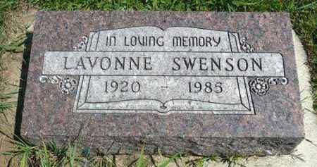 SWENSON, LAVONNE - Minnehaha County, South Dakota | LAVONNE SWENSON - South Dakota Gravestone Photos