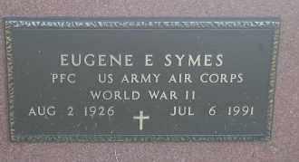 SYMES, EUGENE E. (WW II) - Minnehaha County, South Dakota | EUGENE E. (WW II) SYMES - South Dakota Gravestone Photos