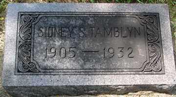 TAMBLYN, SIDNEY S. - Minnehaha County, South Dakota | SIDNEY S. TAMBLYN - South Dakota Gravestone Photos