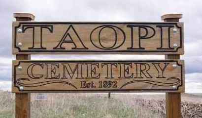 *TAOPI CEMETERY, SIGN - Minnehaha County, South Dakota | SIGN *TAOPI CEMETERY - South Dakota Gravestone Photos