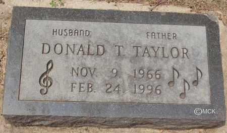 TAYLOR, DONALD T. - Minnehaha County, South Dakota   DONALD T. TAYLOR - South Dakota Gravestone Photos