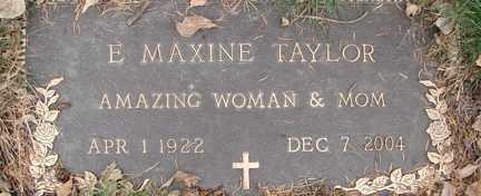TAYLOR, E. MAXINE - Minnehaha County, South Dakota   E. MAXINE TAYLOR - South Dakota Gravestone Photos