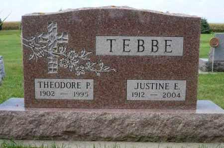 TEBBE, THEODORE P. - Minnehaha County, South Dakota | THEODORE P. TEBBE - South Dakota Gravestone Photos