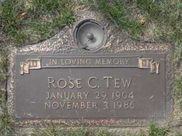 TEW, ROSE C. - Minnehaha County, South Dakota | ROSE C. TEW - South Dakota Gravestone Photos