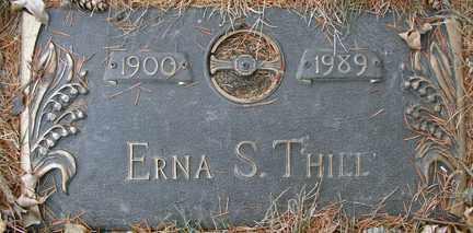 THILL, ERNA S. - Minnehaha County, South Dakota   ERNA S. THILL - South Dakota Gravestone Photos