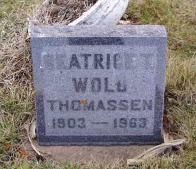 WOLD THOMASSEN, BEATRICE T. - Minnehaha County, South Dakota | BEATRICE T. WOLD THOMASSEN - South Dakota Gravestone Photos