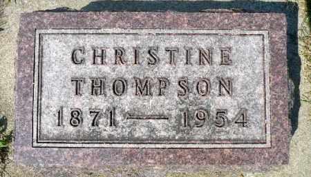 THOMPSON, CHRISTINE - Minnehaha County, South Dakota | CHRISTINE THOMPSON - South Dakota Gravestone Photos