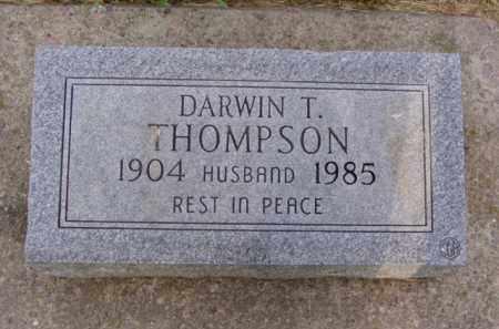 THOMPSON, DARWIN THEODORE - Minnehaha County, South Dakota | DARWIN THEODORE THOMPSON - South Dakota Gravestone Photos