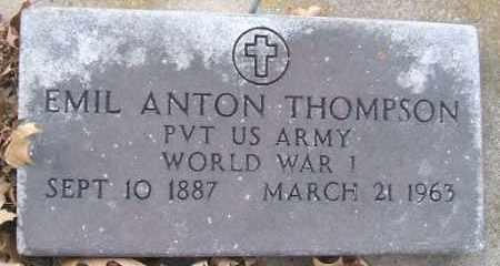 THOMPSON, EMIL ANTON (WWI) - Minnehaha County, South Dakota   EMIL ANTON (WWI) THOMPSON - South Dakota Gravestone Photos