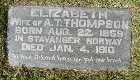 THOMPSON, ELIZABETH - Minnehaha County, South Dakota | ELIZABETH THOMPSON - South Dakota Gravestone Photos