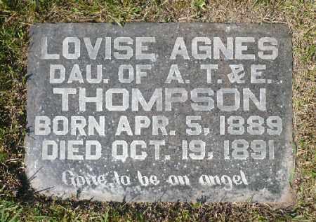 THOMPSON, LOVISE AGNES - Minnehaha County, South Dakota | LOVISE AGNES THOMPSON - South Dakota Gravestone Photos