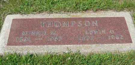 THOMPSON, EDWIN O. - Minnehaha County, South Dakota | EDWIN O. THOMPSON - South Dakota Gravestone Photos
