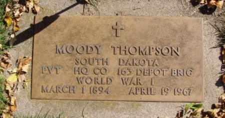 THOMPSON, MOODY - Minnehaha County, South Dakota | MOODY THOMPSON - South Dakota Gravestone Photos
