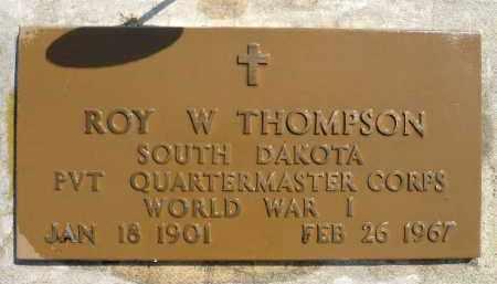 THOMPSON, ROY W. (WWI) - Minnehaha County, South Dakota | ROY W. (WWI) THOMPSON - South Dakota Gravestone Photos