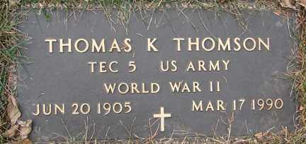 THOMSON, THOMAS K. (WWII) - Minnehaha County, South Dakota | THOMAS K. (WWII) THOMSON - South Dakota Gravestone Photos