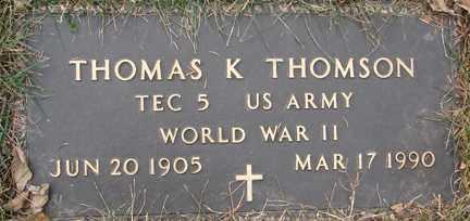 THOMSON, THOMAS K. (WWII) - Minnehaha County, South Dakota | THOMAS K. (WWII) THOMSON - South Dakota Gravestone Photos