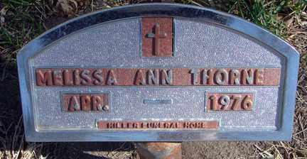 THORNE, MELISSA ANN - Minnehaha County, South Dakota | MELISSA ANN THORNE - South Dakota Gravestone Photos
