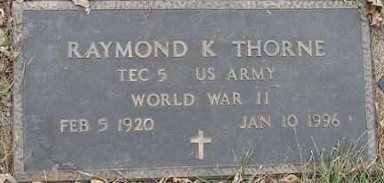 THORNE, RAYMOND K. (WWII) - Minnehaha County, South Dakota   RAYMOND K. (WWII) THORNE - South Dakota Gravestone Photos