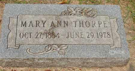 THORPE, MARY ANN - Minnehaha County, South Dakota | MARY ANN THORPE - South Dakota Gravestone Photos