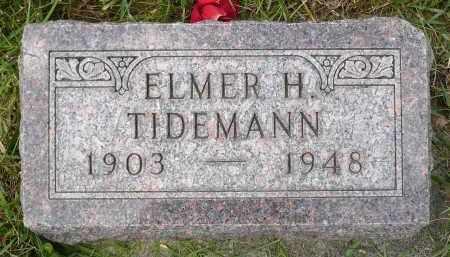 TIDEMANN, ELMER H. - Minnehaha County, South Dakota | ELMER H. TIDEMANN - South Dakota Gravestone Photos