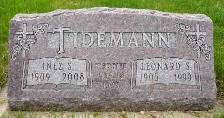 AASEN TIDEMANN, INEZ S. - Minnehaha County, South Dakota | INEZ S. AASEN TIDEMANN - South Dakota Gravestone Photos