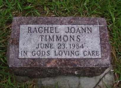 TIMMONS, RACHEL JOANN - Minnehaha County, South Dakota   RACHEL JOANN TIMMONS - South Dakota Gravestone Photos