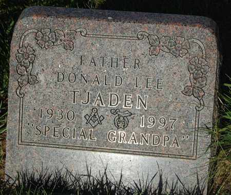TJADEN, DONALD LEE - Minnehaha County, South Dakota | DONALD LEE TJADEN - South Dakota Gravestone Photos