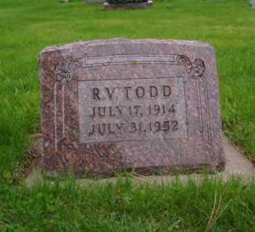 TODD, ROWLAND V. - Minnehaha County, South Dakota | ROWLAND V. TODD - South Dakota Gravestone Photos