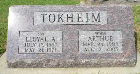 TOKHEIM, ARTHUR - Minnehaha County, South Dakota | ARTHUR TOKHEIM - South Dakota Gravestone Photos
