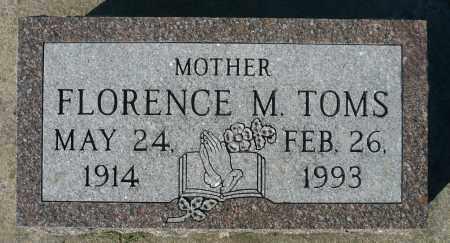 TOMS, FLORENCE M. - Minnehaha County, South Dakota | FLORENCE M. TOMS - South Dakota Gravestone Photos