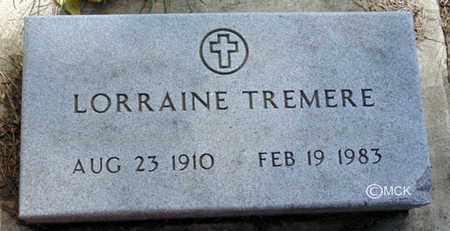TREMERE, LORRAINE - Minnehaha County, South Dakota | LORRAINE TREMERE - South Dakota Gravestone Photos