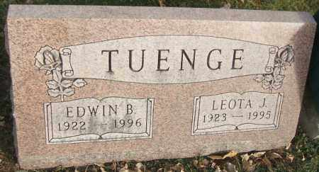 TUENGE, EDWIN B. - Minnehaha County, South Dakota | EDWIN B. TUENGE - South Dakota Gravestone Photos