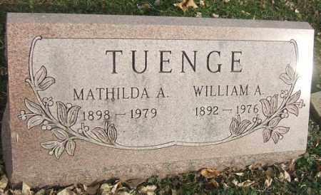 TUENGE, MATHILDA A. - Minnehaha County, South Dakota   MATHILDA A. TUENGE - South Dakota Gravestone Photos