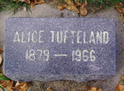 TUFTELAND, ALICE - Minnehaha County, South Dakota   ALICE TUFTELAND - South Dakota Gravestone Photos