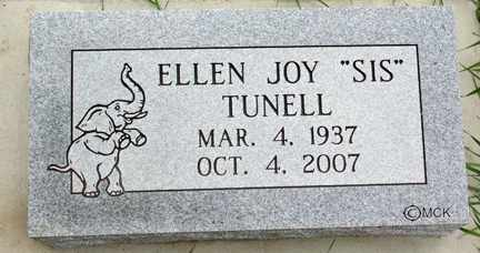 TUNELL, ELLEN JOY - Minnehaha County, South Dakota | ELLEN JOY TUNELL - South Dakota Gravestone Photos