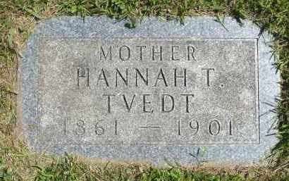 TVEDT, HANNAH T. - Minnehaha County, South Dakota | HANNAH T. TVEDT - South Dakota Gravestone Photos