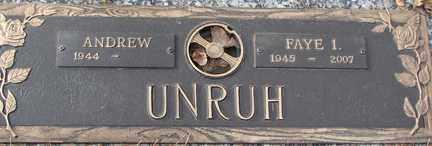 UNRUH, FAYE I. - Minnehaha County, South Dakota | FAYE I. UNRUH - South Dakota Gravestone Photos