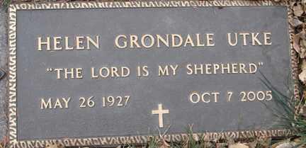GRONDALE UTKE, HELEN - Minnehaha County, South Dakota | HELEN GRONDALE UTKE - South Dakota Gravestone Photos