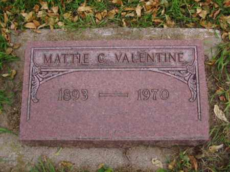 VALENTINE, MATTIE C. - Minnehaha County, South Dakota   MATTIE C. VALENTINE - South Dakota Gravestone Photos
