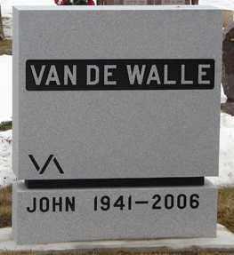 VAN DE WALLE, JOHN - Minnehaha County, South Dakota | JOHN VAN DE WALLE - South Dakota Gravestone Photos