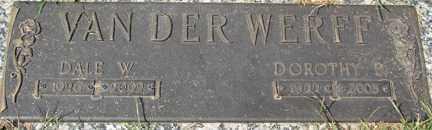 VAN DER WERFF, DOROTHY B. - Minnehaha County, South Dakota   DOROTHY B. VAN DER WERFF - South Dakota Gravestone Photos