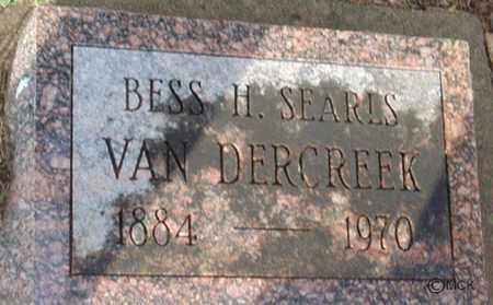 VAN DERCREEK, BESS H. - Minnehaha County, South Dakota   BESS H. VAN DERCREEK - South Dakota Gravestone Photos