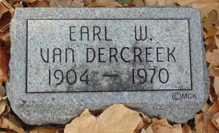 VAN DERCREEK, EARL W. - Minnehaha County, South Dakota | EARL W. VAN DERCREEK - South Dakota Gravestone Photos