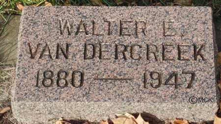 VAN DERCREEK, WALTER E. - Minnehaha County, South Dakota | WALTER E. VAN DERCREEK - South Dakota Gravestone Photos