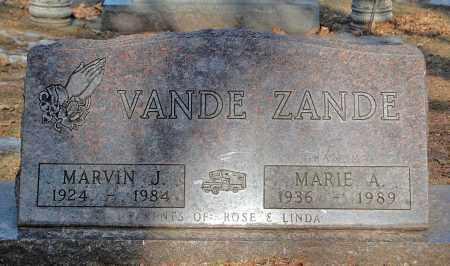 VANDE ZANDE, MARVIN J. - Minnehaha County, South Dakota | MARVIN J. VANDE ZANDE - South Dakota Gravestone Photos