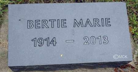 VANDEMARK, BERTIE MARIE - Minnehaha County, South Dakota | BERTIE MARIE VANDEMARK - South Dakota Gravestone Photos